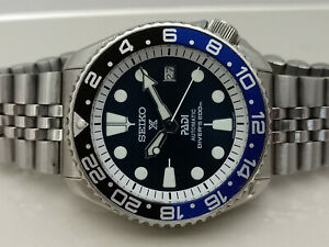 VINTAGE DARK BLUE PADI MODDED SEIKO DIVER 7002-7000 AUTOMATIC MEN'S WATCH 601786