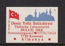 403096/ Zündholzetikett - Türlische Lebensmittel Hulusi Örk - 7750 Konstanz