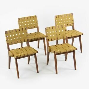 1951 Vintage Jens Risom for Knoll Associates 666W Dining Chairs Set of Four