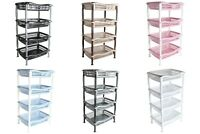 4 Tier Multi Purpose Storage Rack. Strong Standing Shelves