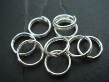 200 silver split rings 7mm - double loop jump rings - link to charm bracelets