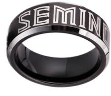 Florida State Seminoles Black Tungsten Steel Ring Sizes 6 7 8 9 10 11 12 13