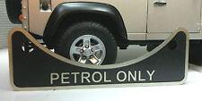 Land Rover Defender 90 110 2.5 V8 Gasolina DEPÓSITO Metal Etiqueta Placa 502951
