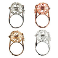 1Pc Women Gold//Silver Plated Hollow Out Star Pearl Beads Cage Rings Jewelry Gift