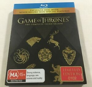 Game of Thrones: Third Season Three 3 - Limited Ed Blu-Ray Region B | Like-New