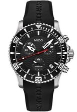 Mido Ocean Star Black Dial Rubber Strap Swiss Quartz Men's Watch M0114171705122