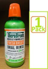 Therabreath Mild Mint Oral Rinse Liquid 16 Oz for bad breath, dry mouth (1 Pack)