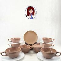 MELMAC MELAMINE 21pc Coffee Tea Snack Set Cups, Saucers & Plates NICE Condition!