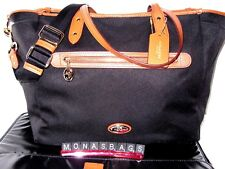 Coach Sawyer Mineral Black Multifunction Tote Laptop Baby Diaper Bag F37758 $398