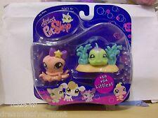 Littlest Pet Shop Octopus and Puffer fish Friends #513 514 New