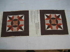 New Old Stock Wamsutta Brown Calico Pillow Fabric Panel - Cut & Sew 42