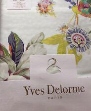 YVES DELORME ailleurs Multi Floral Oiseaux Satin Housse De Couette Superking