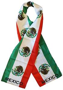 """Mexico Mexican Hispanic Printed Knitted Style Scarf 8""""x60"""""""