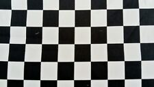 BLACK & WHITE CHECK FABRIC CHEQUERED COTTON PER METER 152cm wide squires 3cm sq