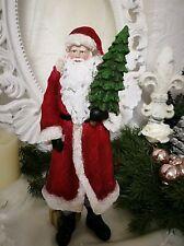 Santa Claus Decorative Figure Christmas Shabby Chic Deco 30cmx10cm