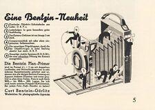 Kamera Bentzin Plan Primar Görlitz Orig. Reklame 1931 (N)