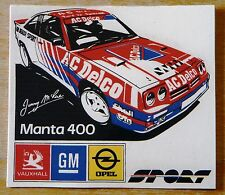 OPEL MANTA 400 Jimmy MCRAE / A C Delco Rally Motorsport Adesivo / Decalcomania