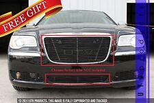 GTG 2011 - 2014 Chrysler 300 and 300C 2PC Gloss Black Insert Billet Grille Kit