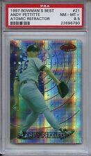 1997 BOWMAN'S BEST 21 ANDY PETTITTE ATOMIC REFRACTOR PSA 8.5 NM-Mint + Yankees