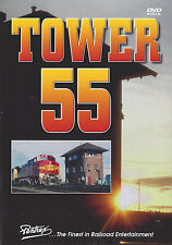 Tower 55 DVD Amtrak BN SF SP UP Railroad Pentrex NEW!