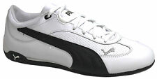 Puma Fast Cat LEA Mens Trainers White Leather Lace Up Shoes 304047 11 D34