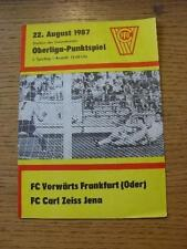 22/08/1987 Vorwarts Frankfurt oder V Carl Zeiss Jena. no hay defectos evidentes, unles