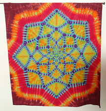 """Hippie Tie dye dyed tapestry sheet curtain wall hanging 56.5""""*61"""" Lotus Blossom"""