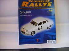 FASCICULE 64 VOITURES DE RALLYE PANHARD PL17 1961 MAKKINEN TOUR DE CORSE 2004