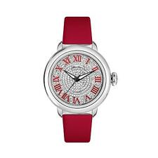 GLAM ROCK WOMEN'S BAL HARBOUR DIAMOND 40MM RED SWISS QUARTZ WATCH GR77034