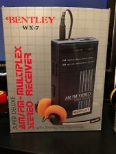 BENTLEY WX-7 SUPER DELUXE AM/FM STEREO RECEIVER WALKMAN PORTABLE RADIO NIB