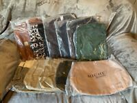 """NEW IN WRAPPED PACKAGE Miche VINTAGE 29/"""" LONG PLAIN BROWN HANDLES//STRAPS"""