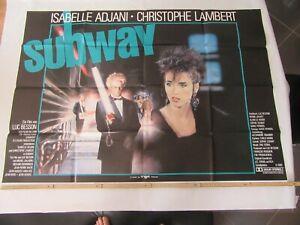 altes Kinoplakat Filmposter A0 SUBWAY mit Christopher Lambert Quer ca. 119x83cm