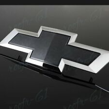 Black Front Grill Bowtie Emblem For 2014-2015 GM Chevy Silverado