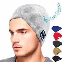 Wireless Smart Bluetooth Music Warm Beanie Hat Cap Headset Headphone Speaker Mic