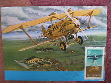 AVIATION 70 airplane 1968 SPAD 33 private maxicard ROMANIA aircraft MAXIMUM CARD