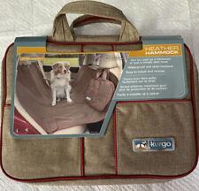 Kurgo Heather Hammock Dog Car Pet Bench Seat Cover Nut Brown