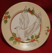 "FITZ & FLOYD ""CHRISTMAS HOLLY DOVE"" china pattern Rim ~Dessert Plate~"