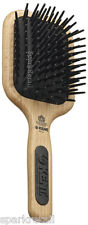 Kent Maxi-Phat Medium Detangle Paddle BRUSH Nylon Ball Tip Wooden Hairbrush PF19