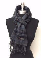 62b71b1abcd8 100 % cachemire d Ecosse écharpe homme laine chaude carreaux bleu gris noir