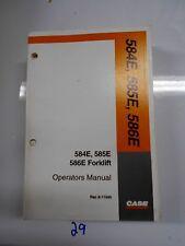 Case 584E 585E 586E Forklift Fork Lift Truck Operator's Owner's Manual 9-11045