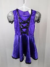 Totally Ghoul Violet Witch Girl's Halloween Costume Dress Only Child Large #5341