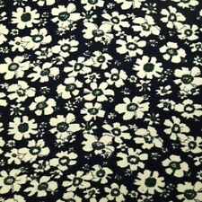 100% Cotton Corduroy Fabric Retro Vintage Floral Flowers