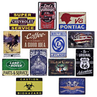 Car Service Garage Style Tin Sign Bar Cafe Store Home Wall Decor Metal Poster JB