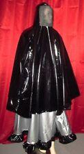 Lackcape kurz Maskencape  Plastikgesicht Vinylcape short Unisex shiny