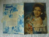 Filmprogramm DNFP Südliche Nächte G. Damar W. Müller W. Haas W. Giller 50er J 4S