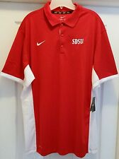 #120 SDSU San Diego State Nike Fit Dry Red/White Team Issue Polo Size XL-NWT