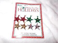 New 8 piece 1 inch Mini Star Ornaments Holiday Xmas Christmas