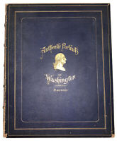 1 of 6, 1893, GEORGE WASHINGTON, AUTHENTIC PORTRAITS, SACHSE, R H SAYRE, SIGNED