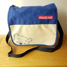 Winnie The Pooh Messenger Bag Blue And Cream With Logo and pooh Bear Face Design