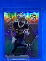 2020 Panini Mosaic Michael Thomas Silver Prizm Football Card